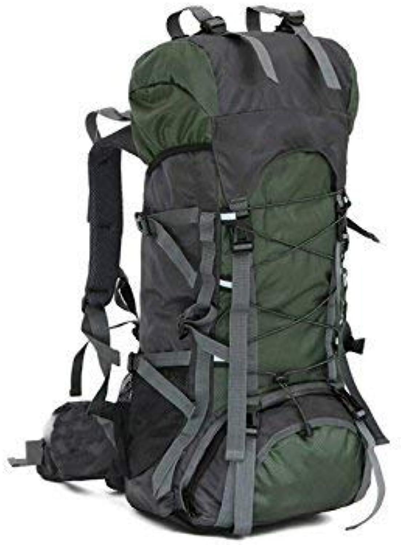 WEILIVE, modische Outdoor- und Indoor-Tasche, große große große Kapazität, professioneller Bergsteiger, 65 l, wasserdicht, Outdoor-Bergsteigtasche (Armeegrün), Multifunktionstasche B07L63XBVW  Langfristiger Ruf 94ec0e
