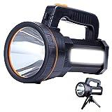 Eornmor High Power LED Rechargeable Spotlight Handheld 6000 Lumen Super Bright Waterproof Large