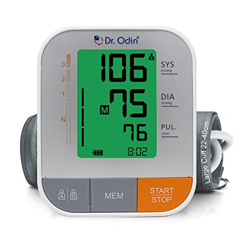 Dr. Odin Digital Blood Pressure Monitor with Arrhythmia Detection for Home, Office, and Travel...
