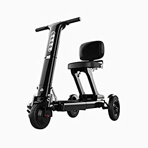Relync R1 Ultra Lightweight Folding Mobility Scooter, Stylish and Bright LED Lighting, Long Range, 3 Second Instant Folding Design, Airline Approved Lithium Battery, Black