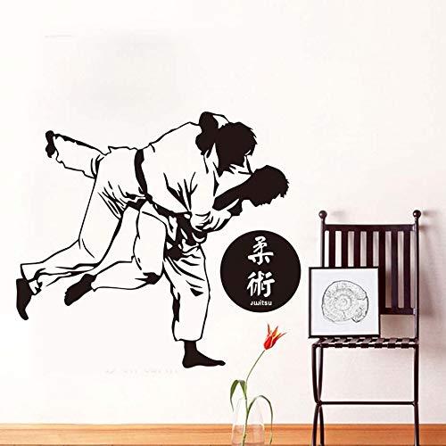 58x64 cm wandaufkleber zitate, hohe qualität japanischen karate gym haus dekoration startseite bild diy abstrakte vinyl kunstwerk aufkleber schlafzimmer kindergarten malerei zimmer