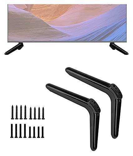 TabloKanvas TELEVISOR Ser Inteligente TELEVISOR Soporte Compatible con TCL 40 Pulgada TV TV Pararse por 43 Pulgadas TELEVISOR Soportar piernas con Tornillo (Color : Black)