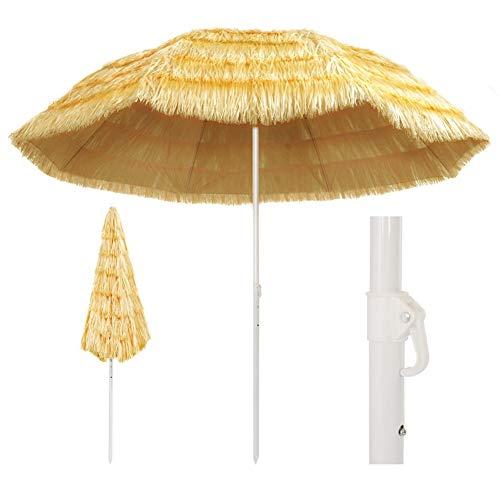 SOULONG Ombrellone Parasole, Ombrellone da Spiaggia in Paglia Tropicale Hawaii Ombrellone Grande da Esterno per Piscina, Gazebo, Terrazze, Bar, Hotel, Balconi (300cm)