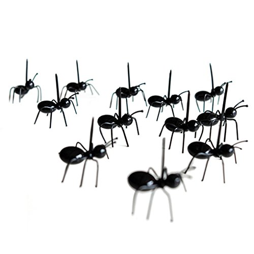 Hemore Mini-Ameisen-Obstgabel, aus umweltfreundlichem Kunststoff, 12 Stück