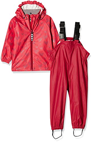 Racoon Baby-Mädchen Vigga Regenset 2teilig (Wassersäule 5000) Jacke, Mehrfarbig (Virtual Pink Vir), 86