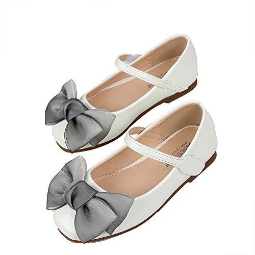 N/P Joeupin Zapatos de vestir para niñas Mary Jane Flower Wedding Party...