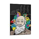WSDSX Charles Darwin 2 Poster auf Leinwand, Wandkunstdruck,