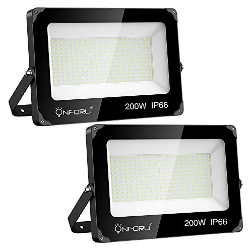Onforu 200W Foco LED Exterior (2 Pack) 22000LM Super Potente...