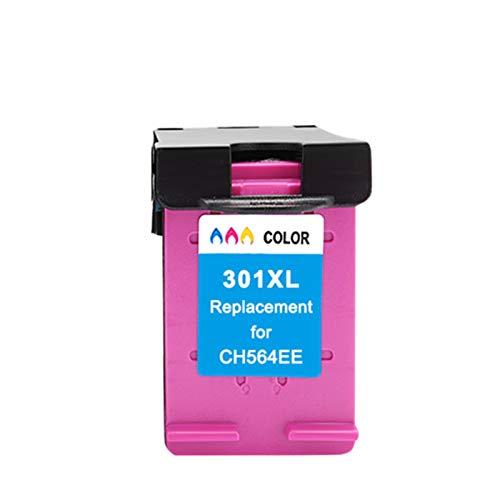 WTBH Cartucho de Tinta Reemplace el Cartucho de Tinta 301XL Compatible con HP301 con HP 301 XL CH563EE CH564EE para DESKJE 1000 1050 2000 2050 2510 3000 Reemplace el Cartucho de Tinta
