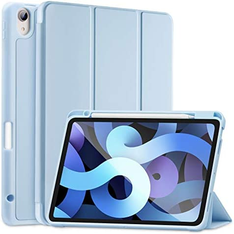 SIWENGDE Compatible for iPad Air 4 Case 2020 with Pencil Holder iPad Air 4th Generation Case product image