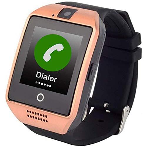 TAOXUE Reloj Inteligente para Ancianos, Llamadas De Emergencia SOS/Función De Alarma/Monitor Cardíaco/Chat De Voz/GPS + WiFi Anti-Perdida Pulsera Inteligente,B