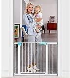Baybee Auto Close Safety Baby Gate Auto Close Safety Baby Gate, Extra Tall and Wide Child Gate, Easy Walk Thru Durability Dog Gate for The House, Stairs, Doorways (Green 75-85+10cm)