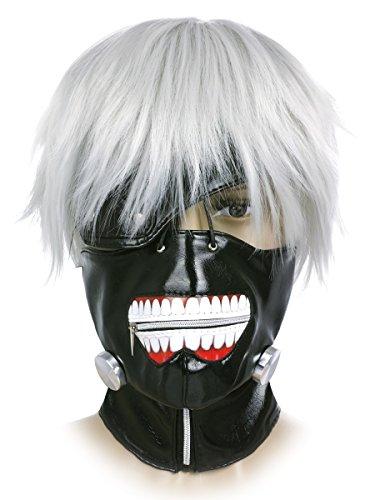 Ken Kaneki Maske und Perücke | Cosplay Set für Tokyo Ghoul Fans