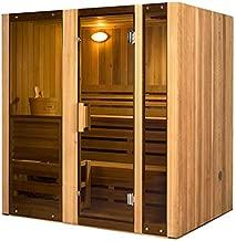 ALEKO STI4HEM 4-Person Hemlock Indoor Wet or Dry Sauna with ETL-Certified 4.5 kW Heater