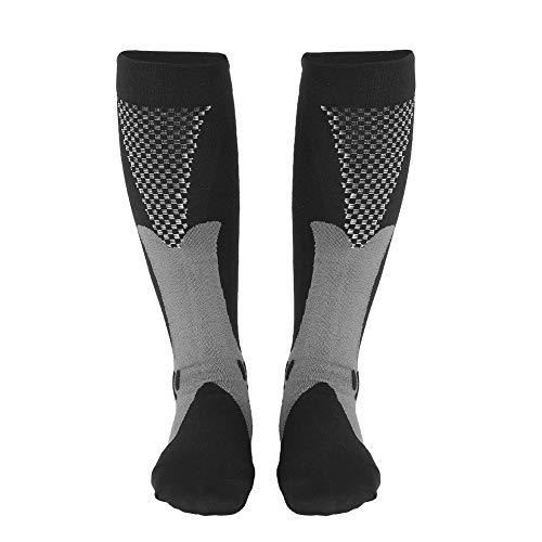 Mäns kompressionsstrumpor, kompressionsstrumpor, andningsskyddande halksockor Stor flexibilitet för löpare Kontorsarbetare(black, S/M)