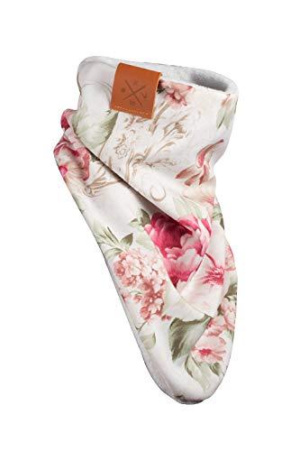 Manufaktur13 Windbreaker (Floral) - Bandana, Halstuch mit Blumenmuster, Multifunktionstuch, Floral Schal, Jersey/Sweat, Tuch (M13)