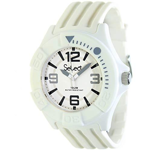 Select Tc-30-01 Reloj Analogico Unisex Caja De Resina Esfera Color Blanco
