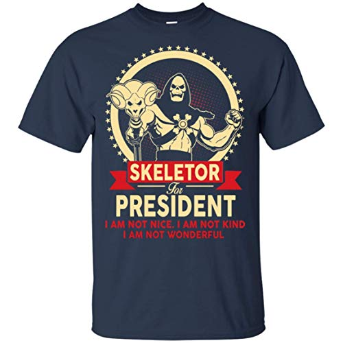 Men's Skeletor for President I Am Not Nice I Am Not Kind Shirt, XXL