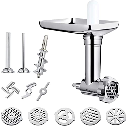 Metal Food Grinder Attachment for KitchenAid Stand Mixers Includes...