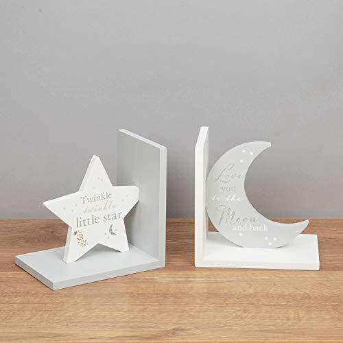 Bambino boekensteunen Twinkle - maan en sterren - houten boekensteunen