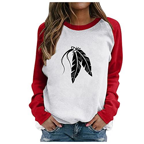 Oberteile Damen Sommer Shirt Damen 3/4 Arm Sommer Oberteile V-Ausschnitt t-Shirts für Damen T Shirt Rot Damen Rollkragenpullover 90s Shirt Rundhals Sweatshirt (White,M)