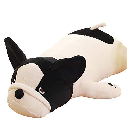 FINIVE Plüschtier Plüsch Bauch Bulldogge Stofftier Puppe Nap Rückenkissen Kissen Kinder Spielzeug Geschenk 50cm