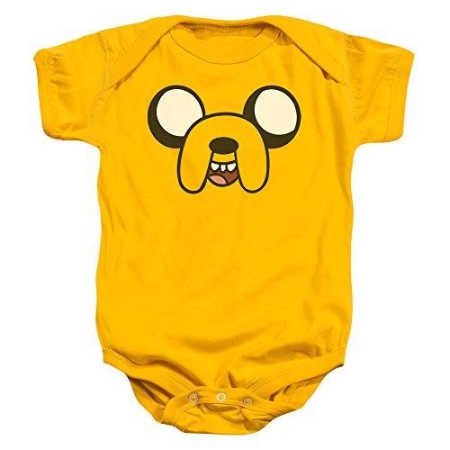 Adventure Time - - Enfant Jake Head Onesie, 6 Months, Gold