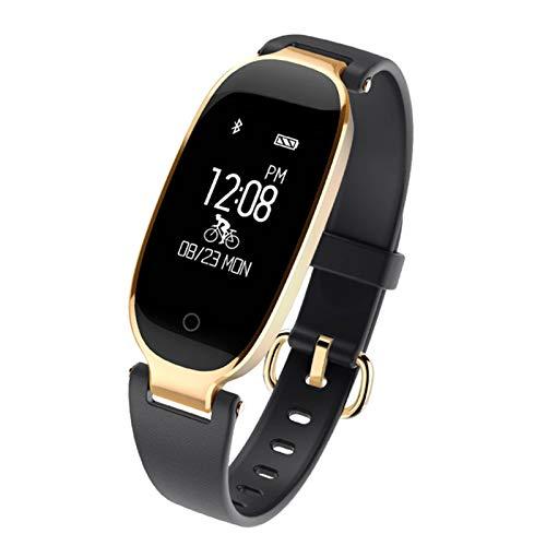 S3 A Prueba de Agua Bluetooth Bluetooth Smart Pulsera Watch Fitness Heart Rate Tracker Sports Smart Lady Clock,C