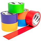 Craftzilla Rainbow Colored Duct Tape — 6 Bright Colors — 10 Yards x 2 Inch — No Residue, Tear by Hand & Waterproof — Great for Arts & Crafts, Color-Coding, and DIY Projects