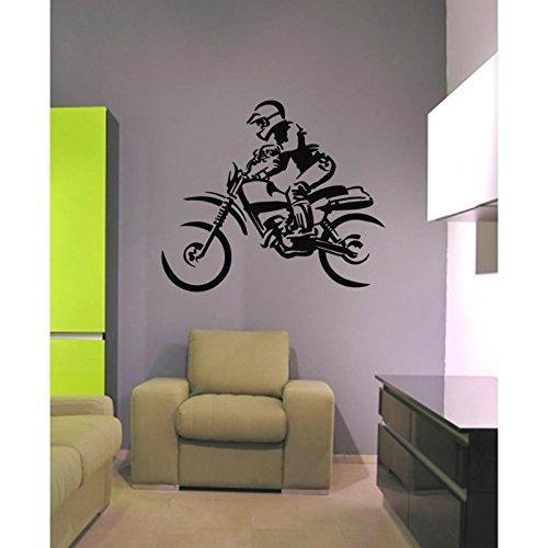 Stickers voor motorfietsen/off-road fiets 96 cm lengte x 80 cm hoogte oranje