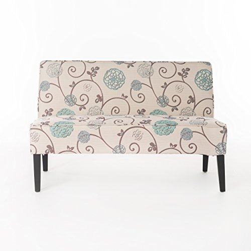 Christopher Knight Home 299441 Devlin White and Blue Floral Fabric Love Seat