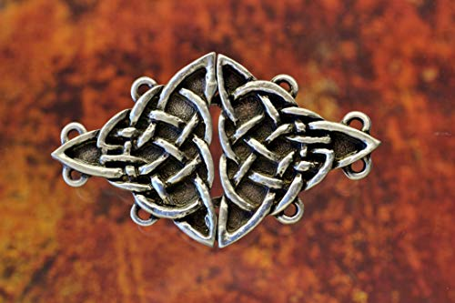Triangular Celtic Knot Cloak Clasp Celtic Jewelry Irish Jewelry Cloak Clasps