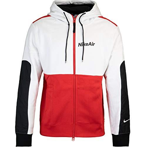 Nike Air Full Zip Fleece Hoody Blanco, rojo XXL