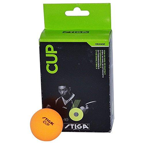 Stiga Cup Table Tennis Ball, Pack of 6 (Orange)
