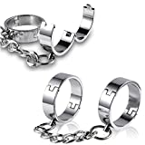 WHUANZ New Stainless Steel Safety Wristbands Lock, Handcuffs and Handcuffs Couple Toys