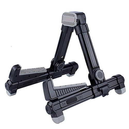 Durable Easy Folding Alumium Alloy A Frame Ukulele Stand, Black