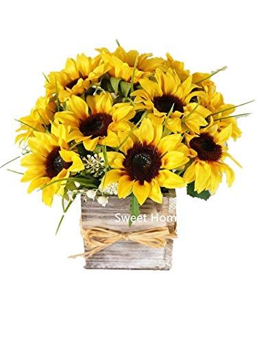 sunflower arrangement amazon com rh amazon com silk floral centerpieces for tables silk flowers centerpieces diy