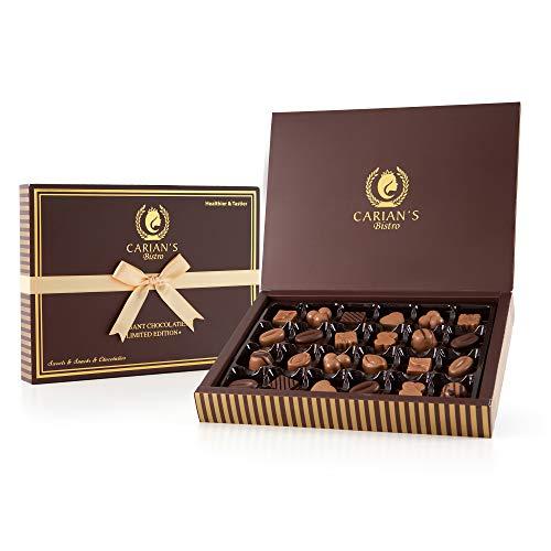 Carian's Bistro Chocolatier Assorted Dark Chocolate Candy/Praline Truffles Signature Gift Box -...