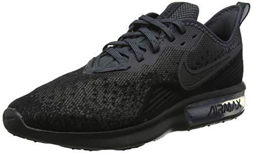 Nike Herren AIR MAX Sequent 4 Fitnessschuhe, Schwarz (Black/Black/Anthracite 002), 42 EU