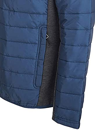Avalanche Mens Midweight Combo Woven Knit Jacket Hoodie With Zipper Pockets