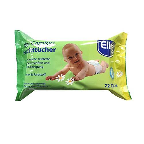 4x 72 Stück Elina med Baby Comfort Feuchttücher 20x15cm Pflege Reinigung