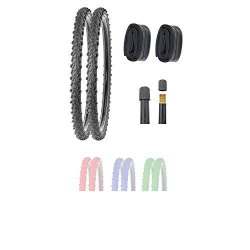 P4B | 2X 24 Zoll MTB Fahrradreifen (50-507) mit AV Schläuchen | Sehr guter Grip in Allen Situationen | Hohe Laufruhe | 24 x 1.95 | Für Mountainbike | 24 Zoll Fahrrad Mantel