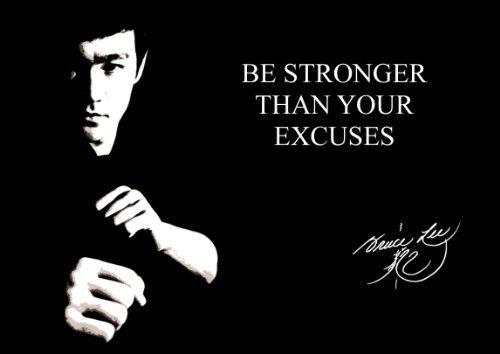Groß (A261x 40,6cm) motivierendem Zitat, Poster Print Picture (Boxen Bruce Lee handsignierten 4) Sport Boxen, Radfahren, Leichtathletik, Bodybuilding, Triathlon, Basketball, Fußball, Rugby, Schwimmen, Martial Arts etc.