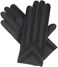 isotoner Signature Men's Gloves, Spandex Stretch with Warm Knit Lining, Black, M/L