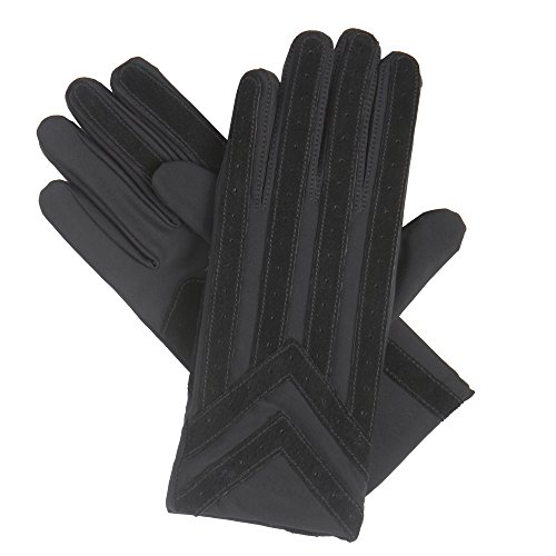 isotoner Signature Men's Gloves, Spandex Stretch with Warm Knit Lining, Black, XL