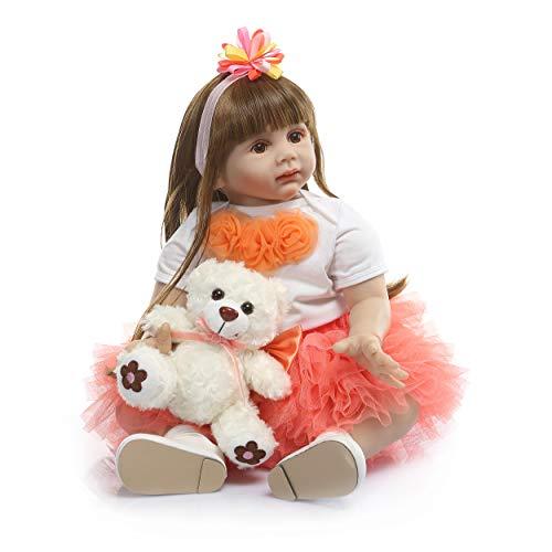 ZQDoll Reborn Toddler Dolls 24 inch Girl Princess Toddlers Handmade Vinyl Silicone Doll Lifelike