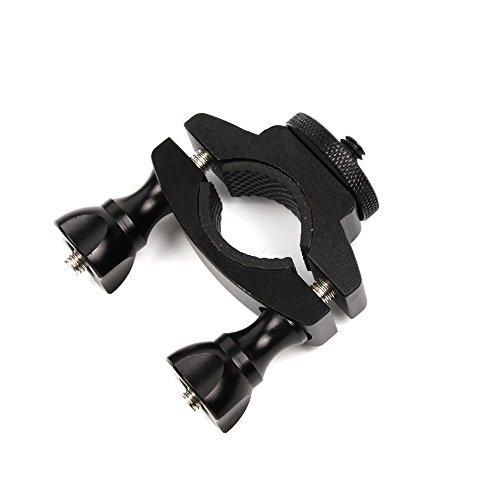 Kiowon 自転車ホルダー バイククランプ ハンドルバーポールマウント OSMO Mobile 3 /OSMO Mobile 2/ZHIYUN Smooth 4ハンドヘルドPTZ対応 手持ちジンバルスタビライザーアクセサリー(黒い)