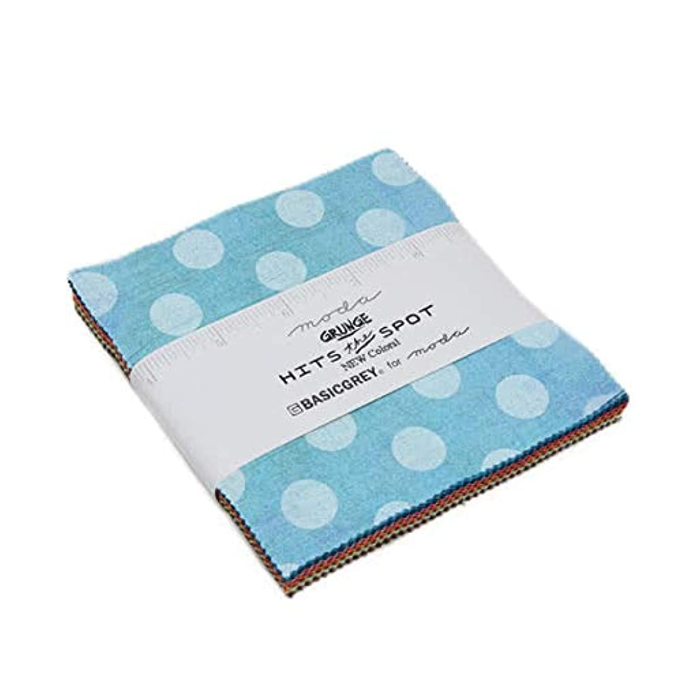 BasicGrey Grunge Hits The Spots New Charm Pack 42 5-inch Squares Moda Fabrics 30149PPN