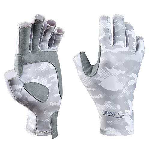 Booms Fishing FG2 Fishing Fingerless Gloves UPF50+ Sun Gloves