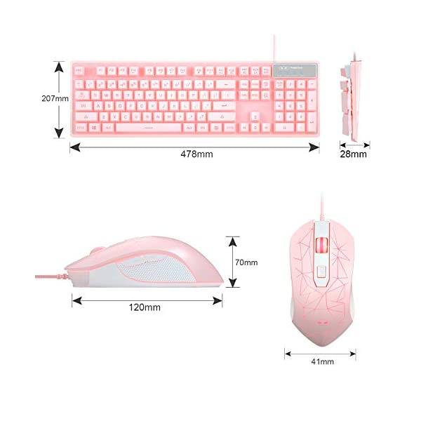 Gaming Keyboard And Mouse Combo K1 7 Colors Led Backlit Keyboard With 104 Keys Computer Pc Gaming Keyboard For Pclaptop